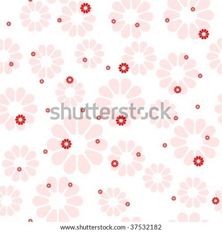 Seamless girly floral pattern - stock vector