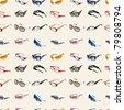 seamless Glasses & Sunglasses pattern - stock vector
