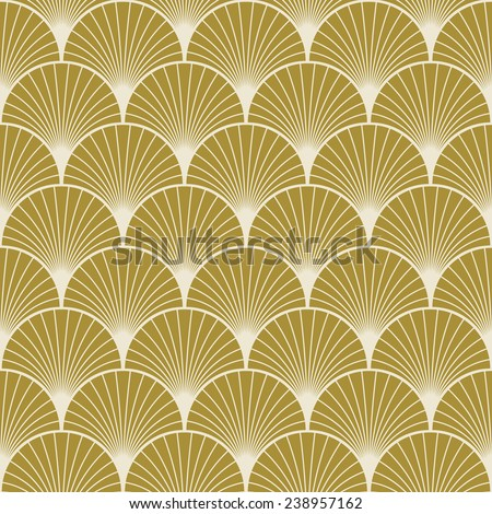 Seamless Gold Colored Art Deco Pattern Stock Vector 238957162 ...