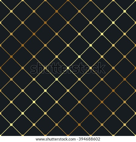 Seamless gold geometric pattern. Vector luxury background - stock vector