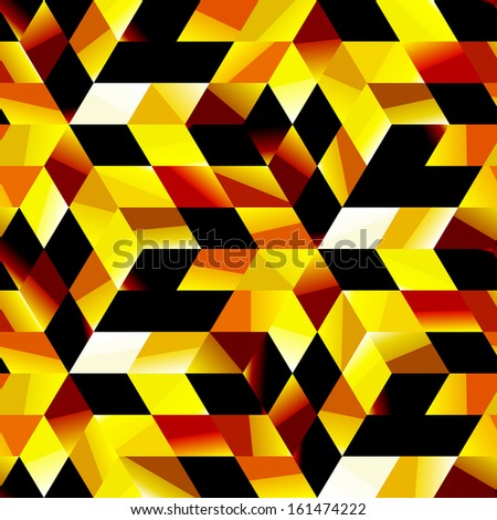 Seamless golden mosaic. Abstract background.