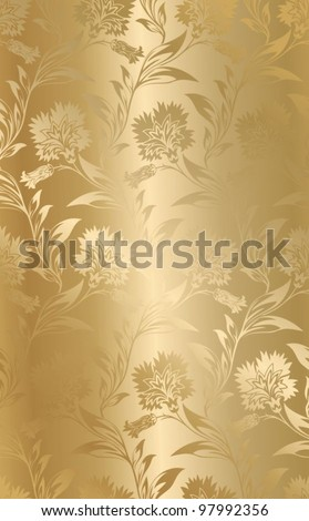 seamless golden satin texture - stock vector