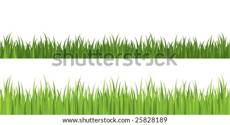 Seamless grass, grouped for easy editing - stock vector