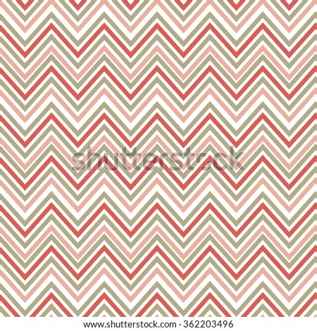 Seamless green and orange zig zag pattern. Tile vector illustrated baby pink retro background. endless warping paper texture