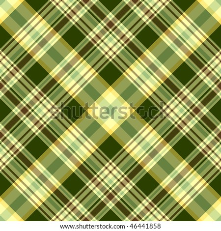 Seamless green and yellow diagonal pattern (vector) EPS 10 - stock vector