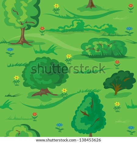 seamless green forest background