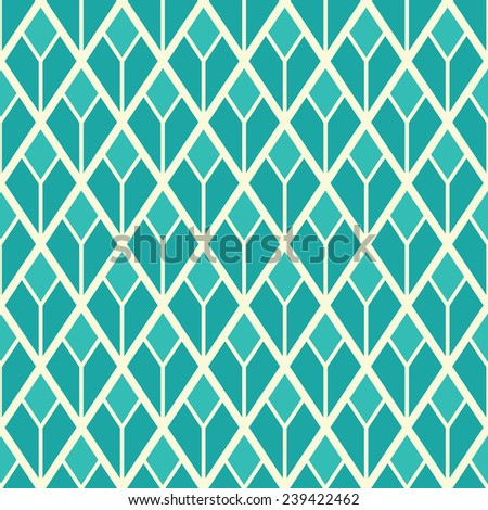 Seamless green geometric pattern background - stock vector