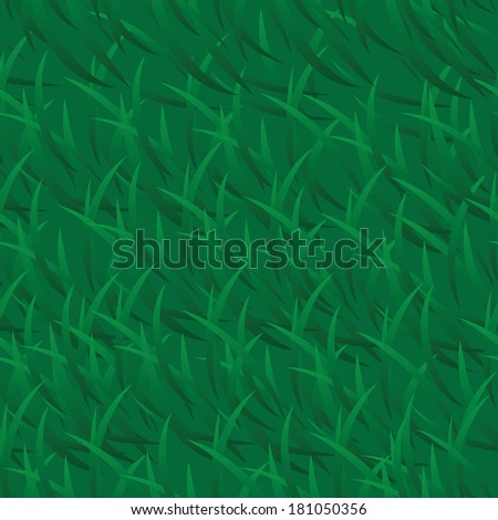 Seamless green grass background. Vector illustration - stock vector