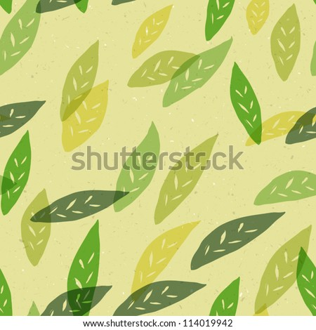 Seamless green leaves pattern. Vector, EPS10