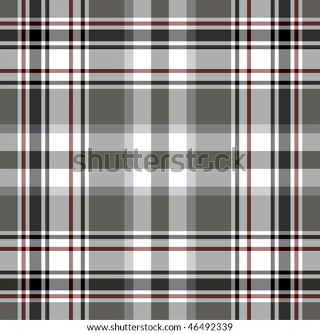Seamless grey and white cell pattern (EPS 10, vector) - stock vector