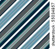 Seamless grey-blue-white pattern with diagonal stripes (vector) - stock photo