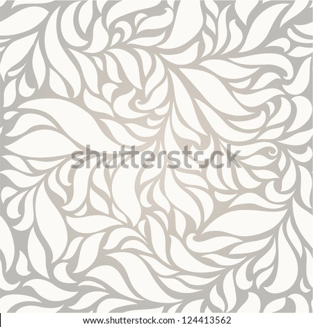 seamless grey  floral  background - stock vector