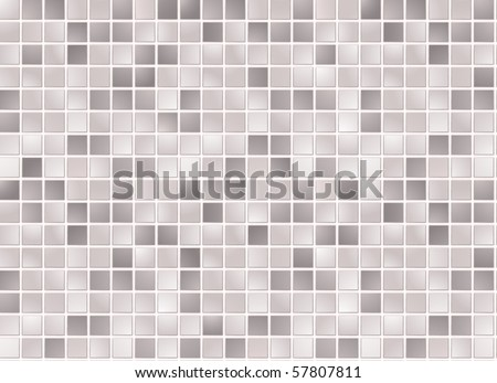 Seamless grey square tiles pattern - stock vector