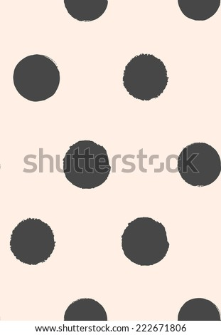 seamless grunge dots vector pattern - stock vector