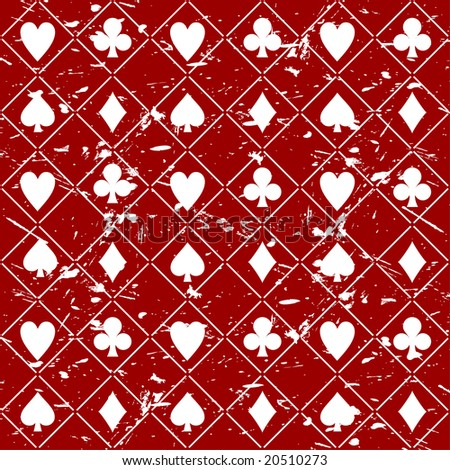Seamless grungy poker background vector - stock vector