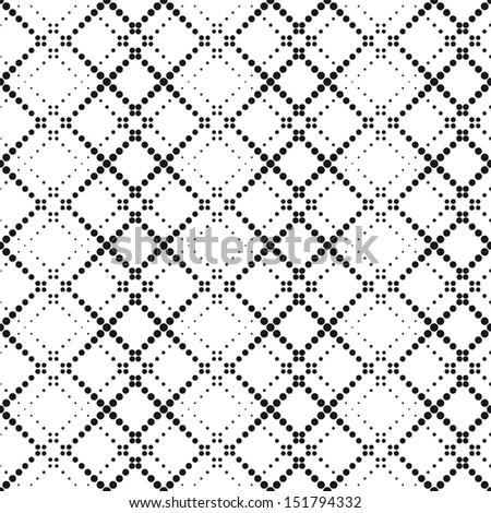 Seamless Halftone Pattern - stock vector
