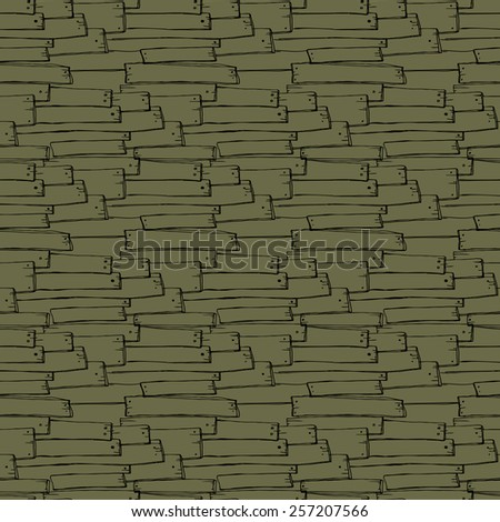 Seamless hand drawn wood texture, vector illustration - stock vector