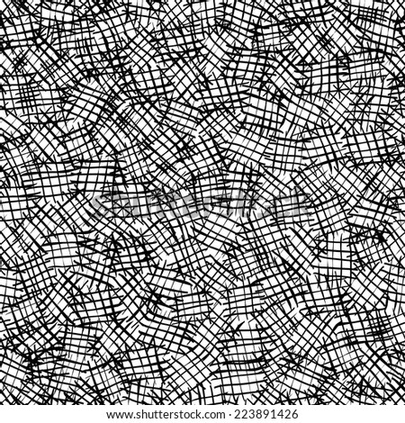 Seamless hatching pattern. - stock vector