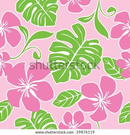Seamless Hawaii Summer Pattern - stock vector