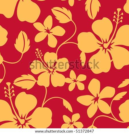 Seamless Hawaiian Hula Pattern - stock vector
