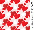 Seamless hearts pattern. vector - stock vector