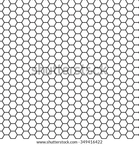 Grid Seamless Pattern Hexagonal Cell Texture Vector – Hexagon Graph Paper