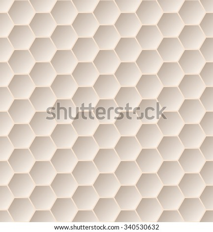 Seamless hexagon pattern background with 3d effect - stock vector