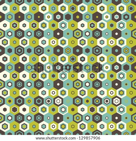 Seamless hexagon pattern, vector background. - stock vector