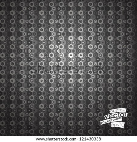 Seamless hexagon pattern. Vector illustration.