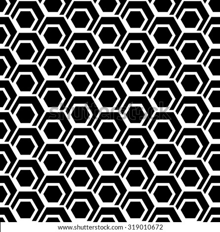 Seamless hexagons pattern. Geometric texture. Vector art. - stock vector