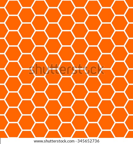 Seamless hexagons texture. Honeycomb pattern. Vector art. - stock vector