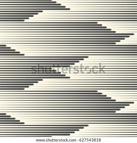 interesting seamless horizontal line pattern abstract fabric texture vector black and white background with white fabric texture design