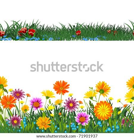 Seamless horizontally. - stock vector