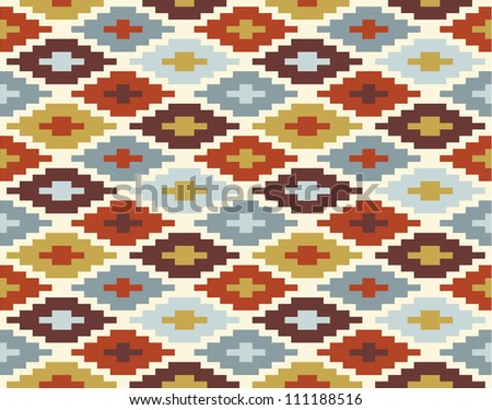 Seamless ikat pattern #2 - stock vector