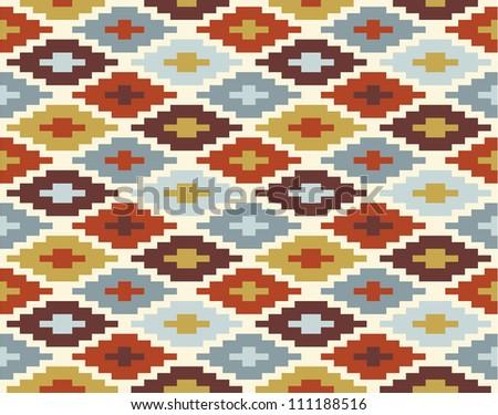 Seamless ikat pattern #2 - stock vector