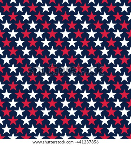 Seamless Independence Day Fouth of July Star Pattern Background