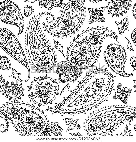 From Our Paisley Designs Coloring Book Coloringbooks Dover