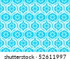 Seamless indian pattern in royal blue - stock vector