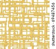 Seamless interweaving gold pipes pattern - stock photo