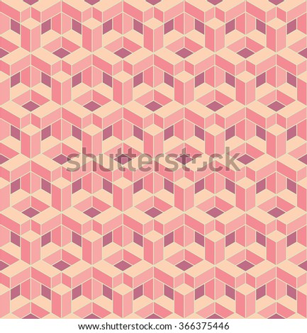 seamless isometric cross grid pattern. each detail in separate layer. - stock vector