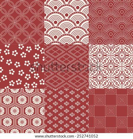 seamless japanese traditional pattern - stock vector
