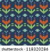 Seamless knit pattern imitation ethnic style - stock vector