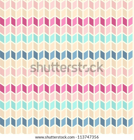 Seamless knitted geometric pattern - stock vector