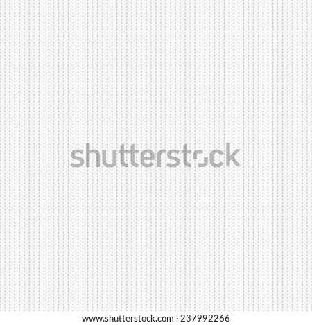 Seamless knitted hand drawn background. Abstract white knitting wool material. Neutral winter texture. Simple hosiery, pullover, sweater, mat... geometric pattern, vector art image illustration, eps10 - stock vector
