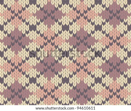 Seamless knitted pattern for winter clothing. EPS10 vector illustration. - stock vector