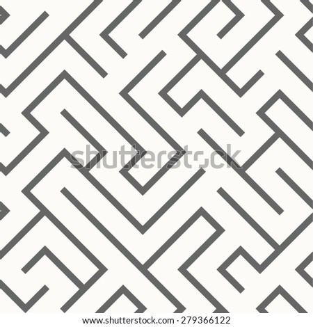 Seamless labyrinth pattern - stock vector
