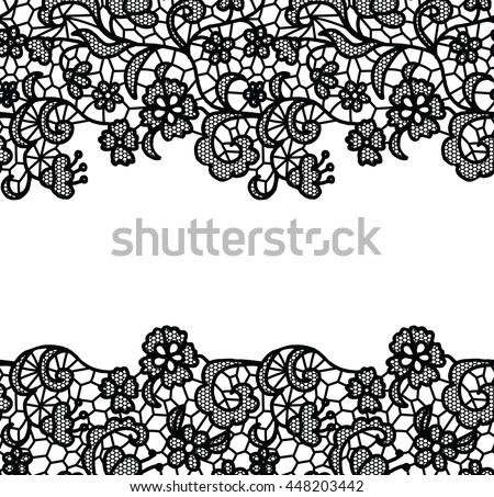 seamless lace border vector illustration white stock vector rh shutterstock com black lace border vector gold lace border vector