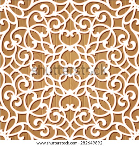Seamless lace pattern. - stock vector