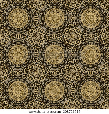 Seamless laced pattern - stock vector