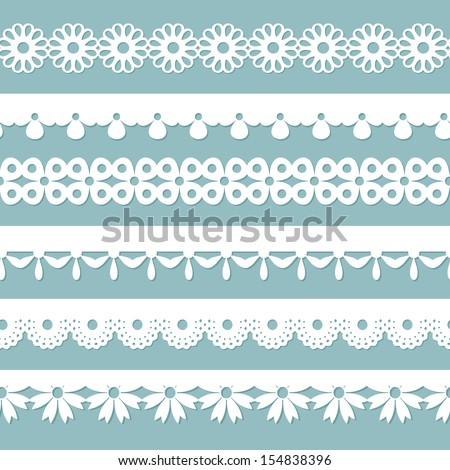 seamless laces on the blue background - stock vector